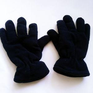 Women Dark Blue Winter Gloves